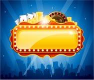 De achtergrond van de casinostad Royalty-vrije Stock Afbeeldingen