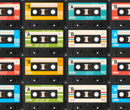 De achtergrond van de cassetteband Vector Royalty-vrije Stock Afbeeldingen