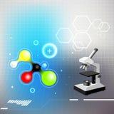 De achtergrond van de chemie Royalty-vrije Stock Foto