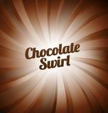 De achtergrond van de chocoladewerveling Stock Afbeeldingen