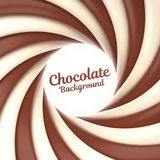 De achtergrond van de chocoladewerveling met plaats voor uw inhoud Royalty-vrije Stock Fotografie