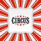 De achtergrond van de circusaffiche Stock Foto