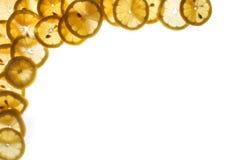 De achtergrond van de citroen Stock Foto's