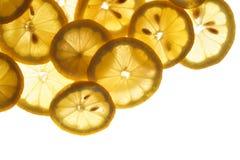 De achtergrond van de citroen Stock Afbeeldingen