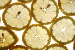 De achtergrond van de citroen Stock Fotografie