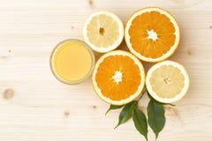 De achtergrond van de citrusvrucht Stock Afbeelding