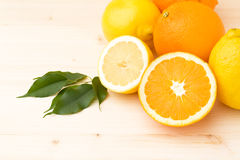 De achtergrond van de citrusvrucht Stock Afbeeldingen