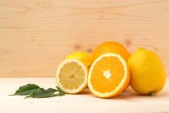 De achtergrond van de citrusvrucht Royalty-vrije Stock Foto's