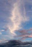 De achtergrond van de close-uphemel op zonsondergang Conceptueel 3d beeld Stock Fotografie