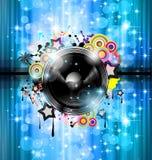 De achtergrond van de Club van de muziek voor discodans Stock Afbeeldingen