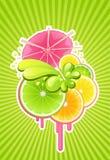 De achtergrond van de cocktail Vector Illustratie