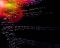 De achtergrond van de Code van de technologie Royalty-vrije Stock Foto's