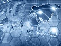 De achtergrond van de computer Stock Fotografie