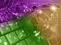 De achtergrond van de computer Stock Afbeeldingen