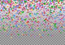 De achtergrond van de confettiengrens stock illustratie