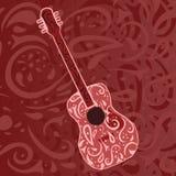 De achtergrond van de country muziek - gitaar Royalty-vrije Stock Fotografie