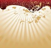De achtergrond van de Dag van de gouden Valentijnskaart royalty-vrije illustratie