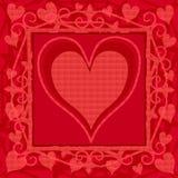 De Achtergrond van de Dag van de heldere Roze Valentijnskaart stock illustratie