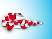 De achtergrond van de Dag van de mooie St. Valentijnskaart, gift of groetkaart Royalty-vrije Stock Foto