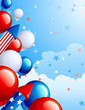 De achtergrond van de Dag van de onafhankelijkheid Stock Foto's