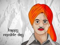 De achtergrond van de Dag van de republiek royalty-vrije illustratie