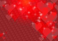 De achtergrond van de Dag van de valentijnskaart Royalty-vrije Stock Foto