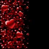 De achtergrond van de Dag van de valentijnskaart Stock Fotografie