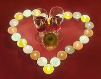 De achtergrond van de Dag van de valentijnskaart royalty-vrije stock foto's
