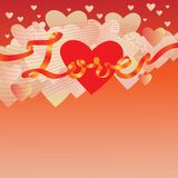 De achtergrond van de Dag van de valentijnskaart Royalty-vrije Stock Fotografie
