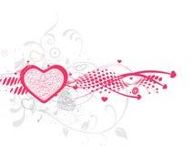 De achtergrond van de Dag van de valentijnskaart Stock Afbeelding