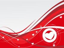 De achtergrond van de Dag van de valentijnskaart Royalty-vrije Stock Afbeeldingen