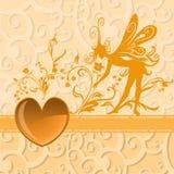 De achtergrond van de Dag van de valentijnskaart Royalty-vrije Stock Afbeelding