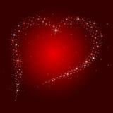 De achtergrond van de Dag van de valentijnskaart met sterrig hart Royalty-vrije Stock Afbeelding