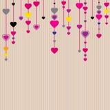 De achtergrond van de Dag van de Valentijnskaart van heilige stock illustratie