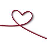 De achtergrond van de Dag van de Valentijnskaarten van het hart Stock Afbeelding