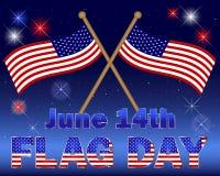 De achtergrond van de Dag van de vlag. Royalty-vrije Stock Foto