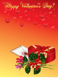 De achtergrond van de Dag van valentijnskaarten Stock Afbeelding