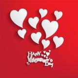 De achtergrond van de Dag van valentijnskaarten Stock Foto's
