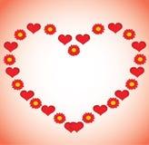De achtergrond van de Dag van valentijnskaarten. Stock Afbeeldingen