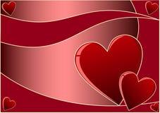 De Achtergrond van de Dag van valentijnskaarten royalty-vrije illustratie