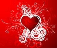 De achtergrond van de Dag van valentijnskaarten Stock Fotografie