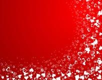 De achtergrond van de Dag van valentijnskaarten met royalty-vrije illustratie