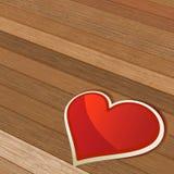 De achtergrond van de Dag van valentijnskaarten met hart. + EPS8 Royalty-vrije Stock Afbeeldingen