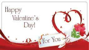 De achtergrond van de Dag van Valentin `s vector illustratie