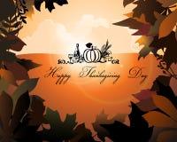 De achtergrond van de dankzegging Stock Fotografie