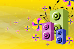 De Achtergrond van de Dans van de disco Stock Afbeelding