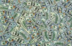 De achtergrond van de de bankbiljettentextuur van het dollargeld Stock Fotografie