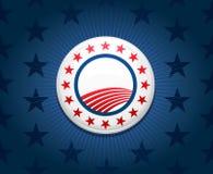 De achtergrond van de de campagneknoop van de verkiezing Stock Fotografie