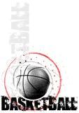 De achtergrond van de de cirkelaffiche van het basketbal Stock Afbeelding