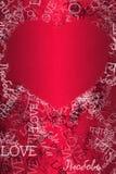 De Achtergrond van de de Dagliefde van Valentine Royalty-vrije Stock Afbeeldingen